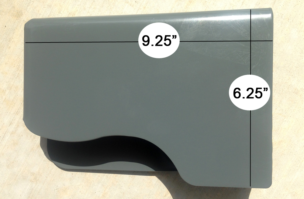 bolt on lock box dimensions