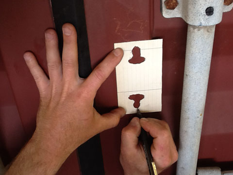 Installing a bolt on container lock box